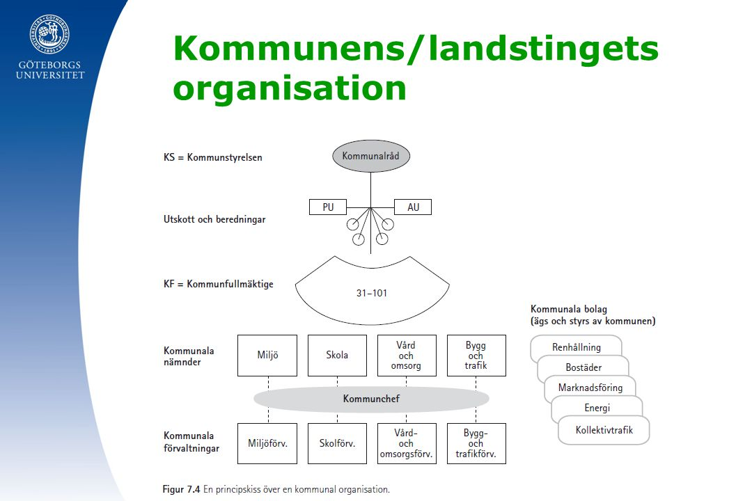 Kommunens/landstingets organisation