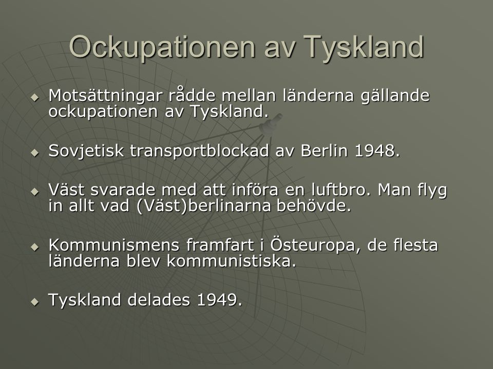 Ockupationen av Tyskland