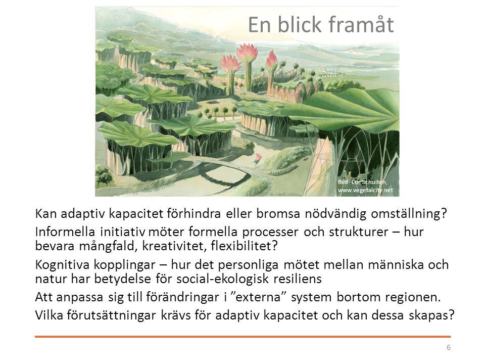 En blick framåt Bild: Luc Schuiten, www.vegetalcity.net.