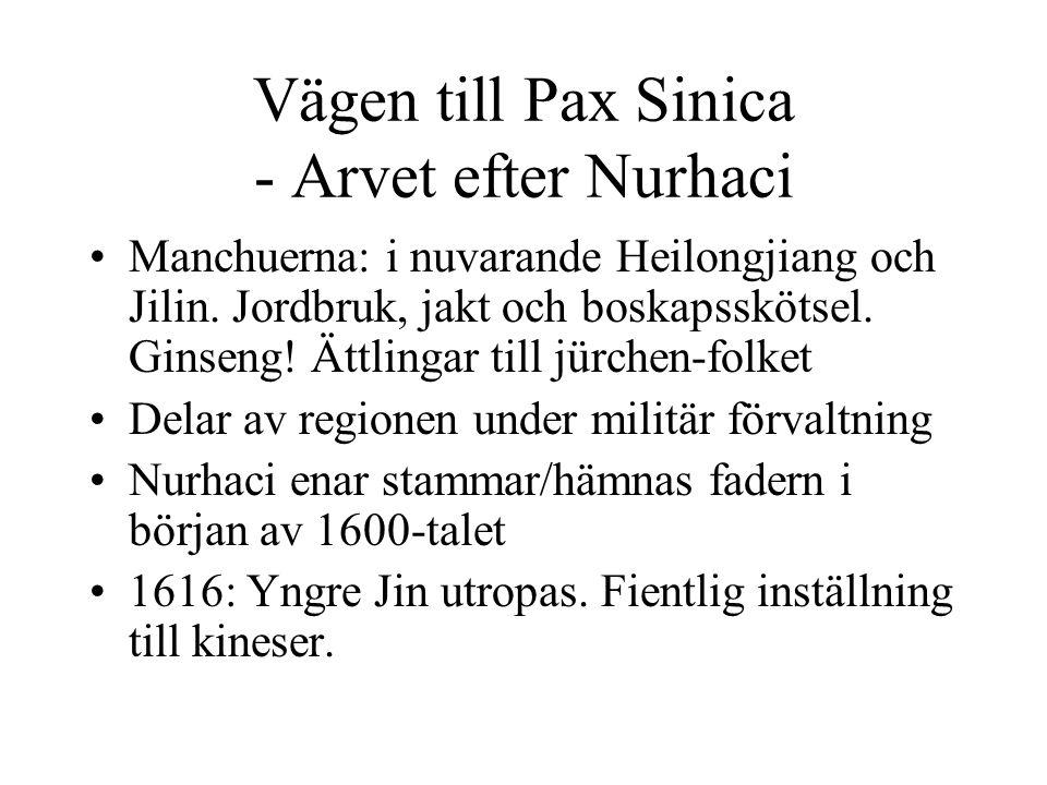 Vägen till Pax Sinica - Arvet efter Nurhaci
