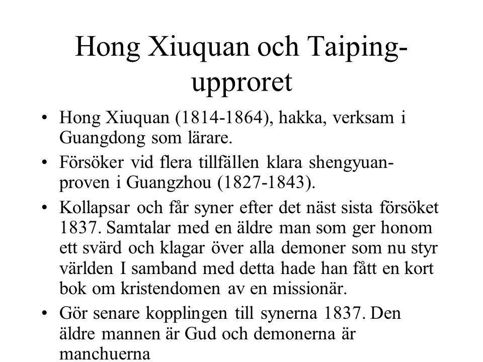 Hong Xiuquan och Taiping-upproret