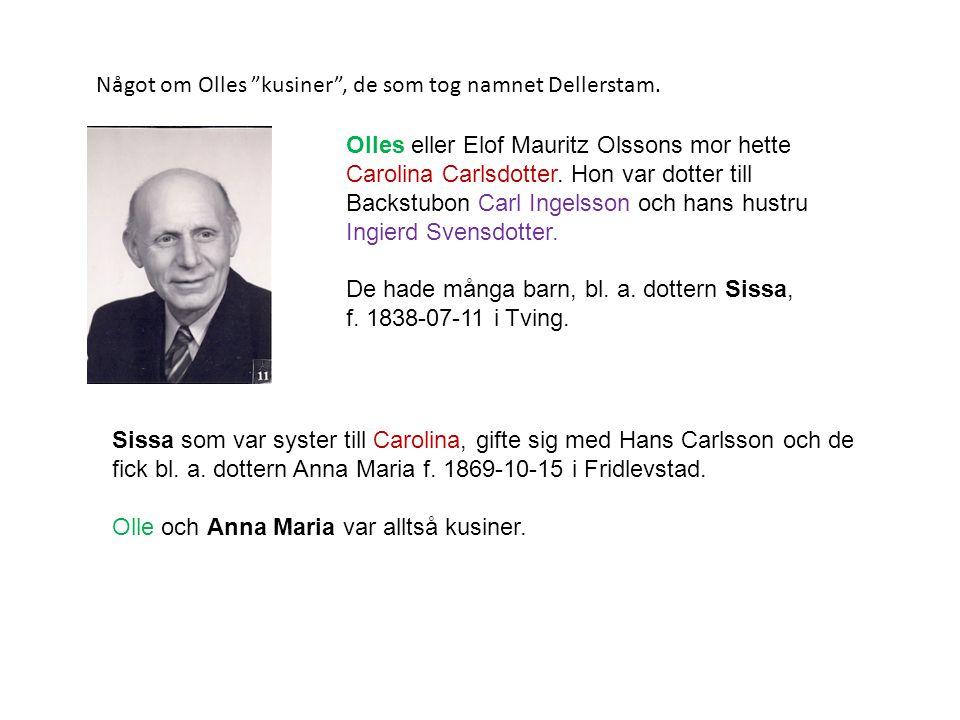 Något om Olles kusiner , de som tog namnet Dellerstam.