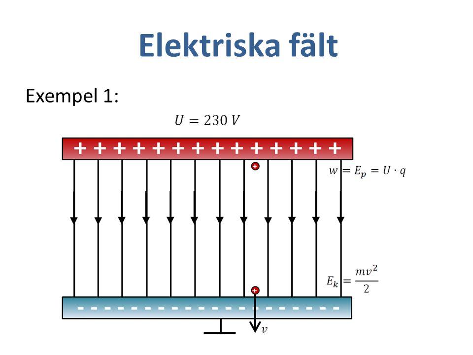 Elektriska fält Exempel 1: