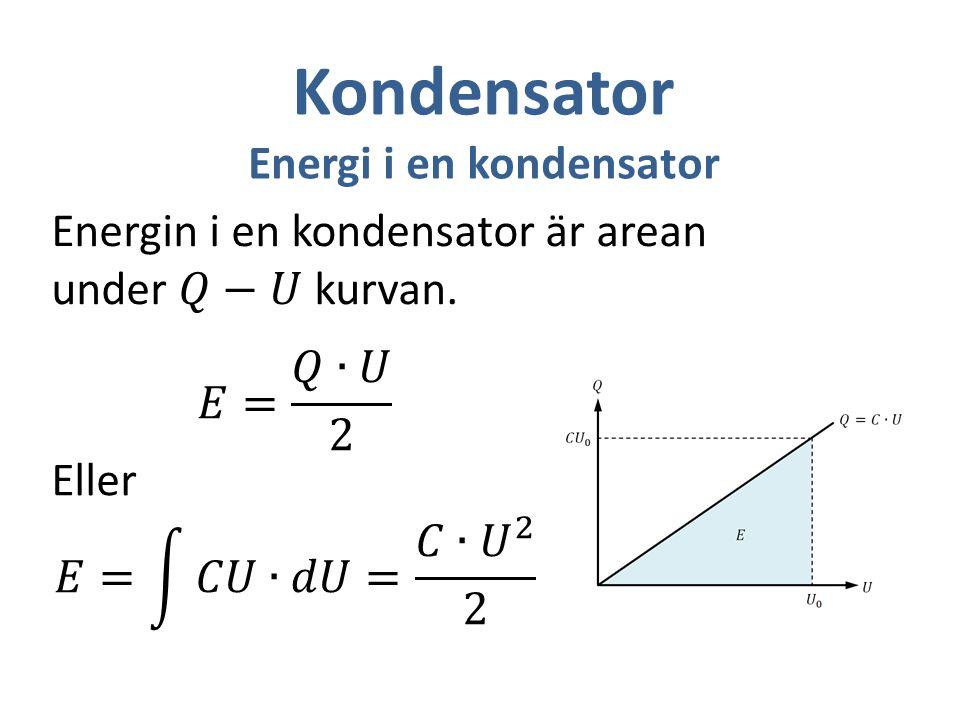 Energi i en kondensator