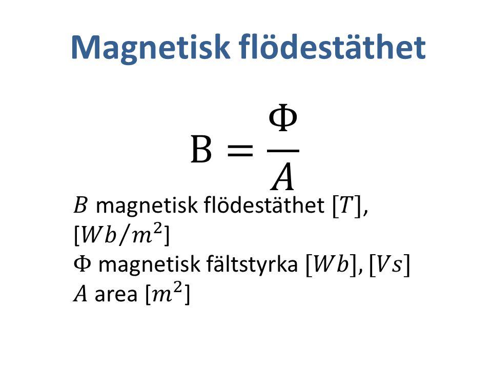 Magnetisk flödestäthet