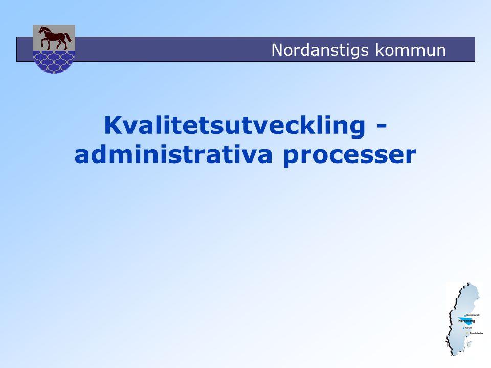 Kvalitetsutveckling - administrativa processer