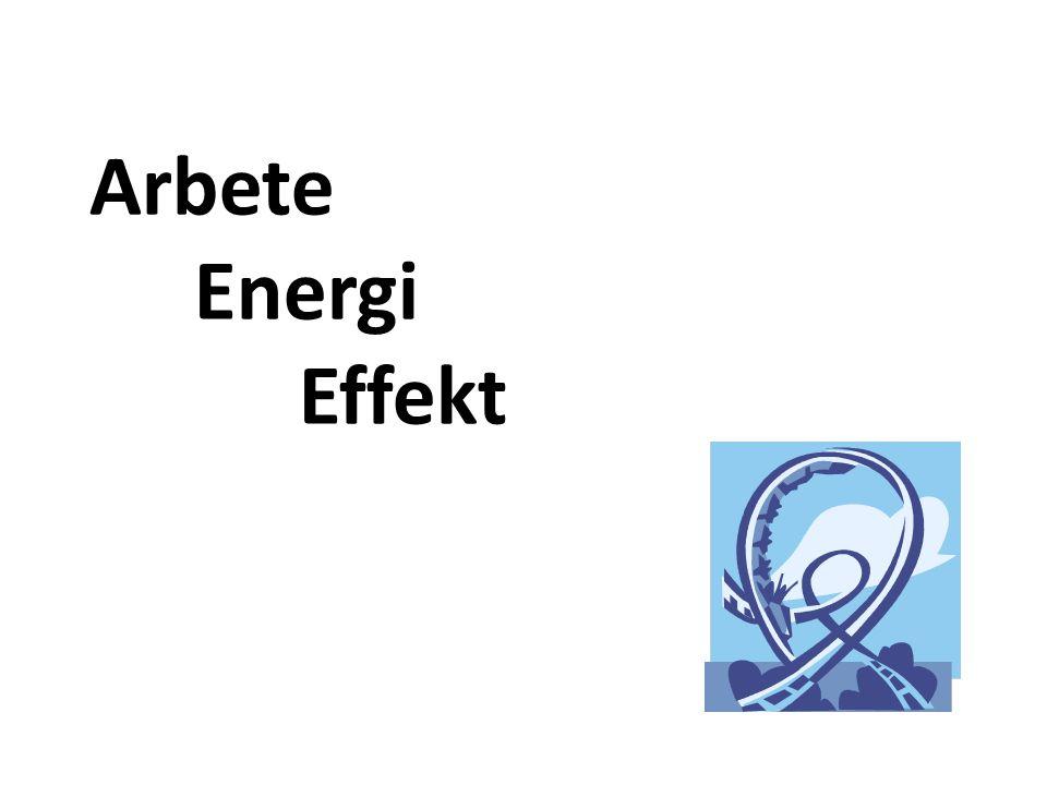 Arbete energi effekt uppgifter