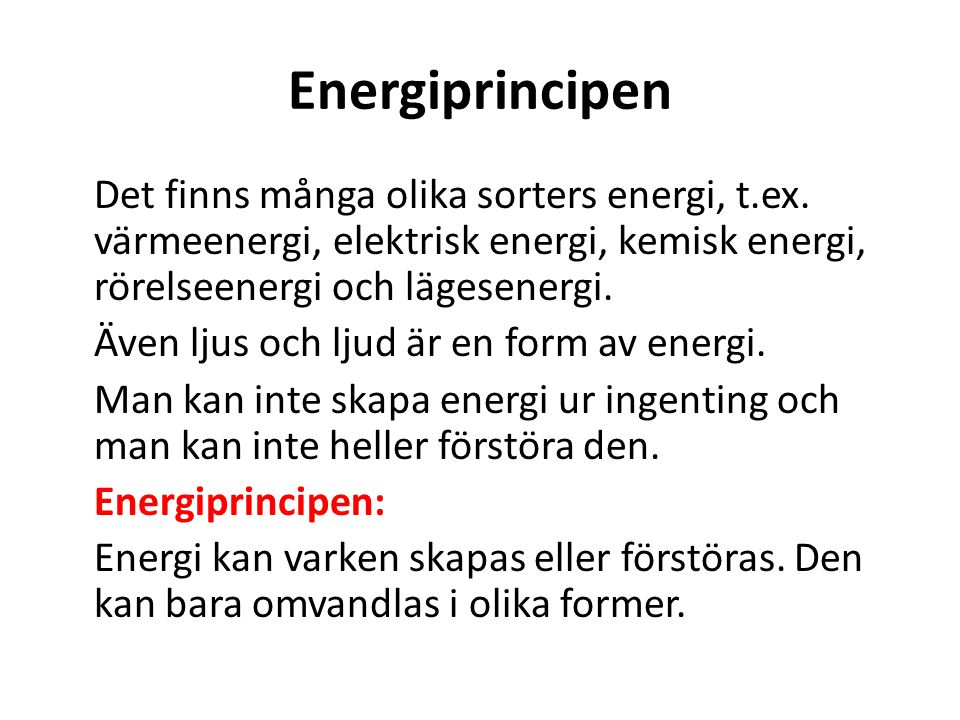 Energiprincipen