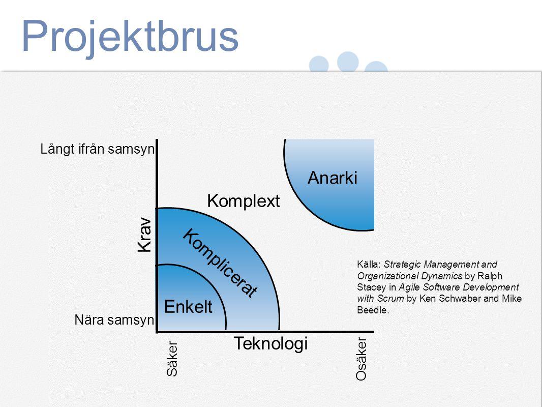 Projektbrus Anarki Komplext Krav Komplicerat Enkelt Teknologi