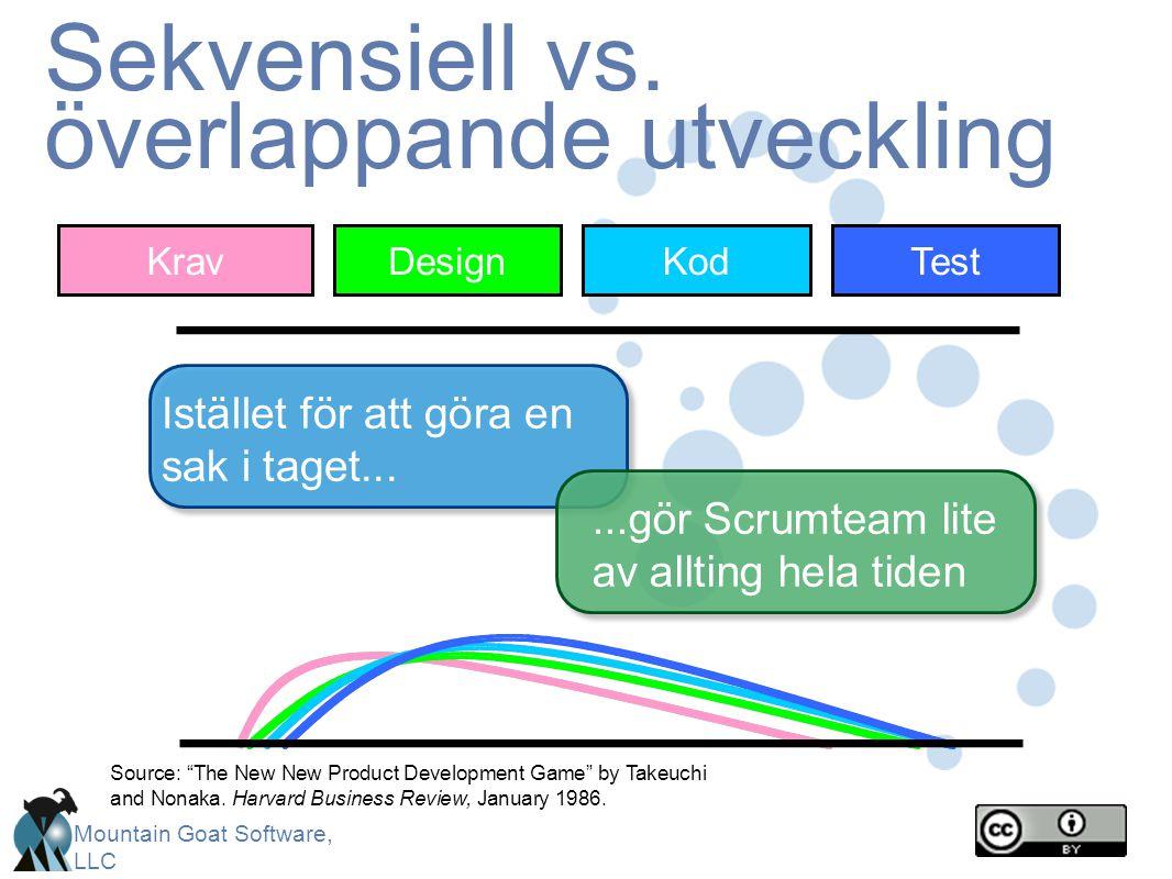 Sekvensiell vs. överlappande utveckling