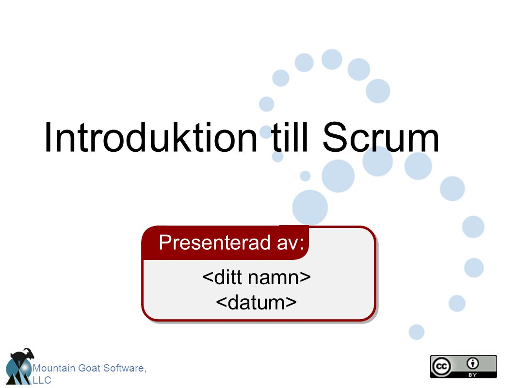 Introduktion till Scrum