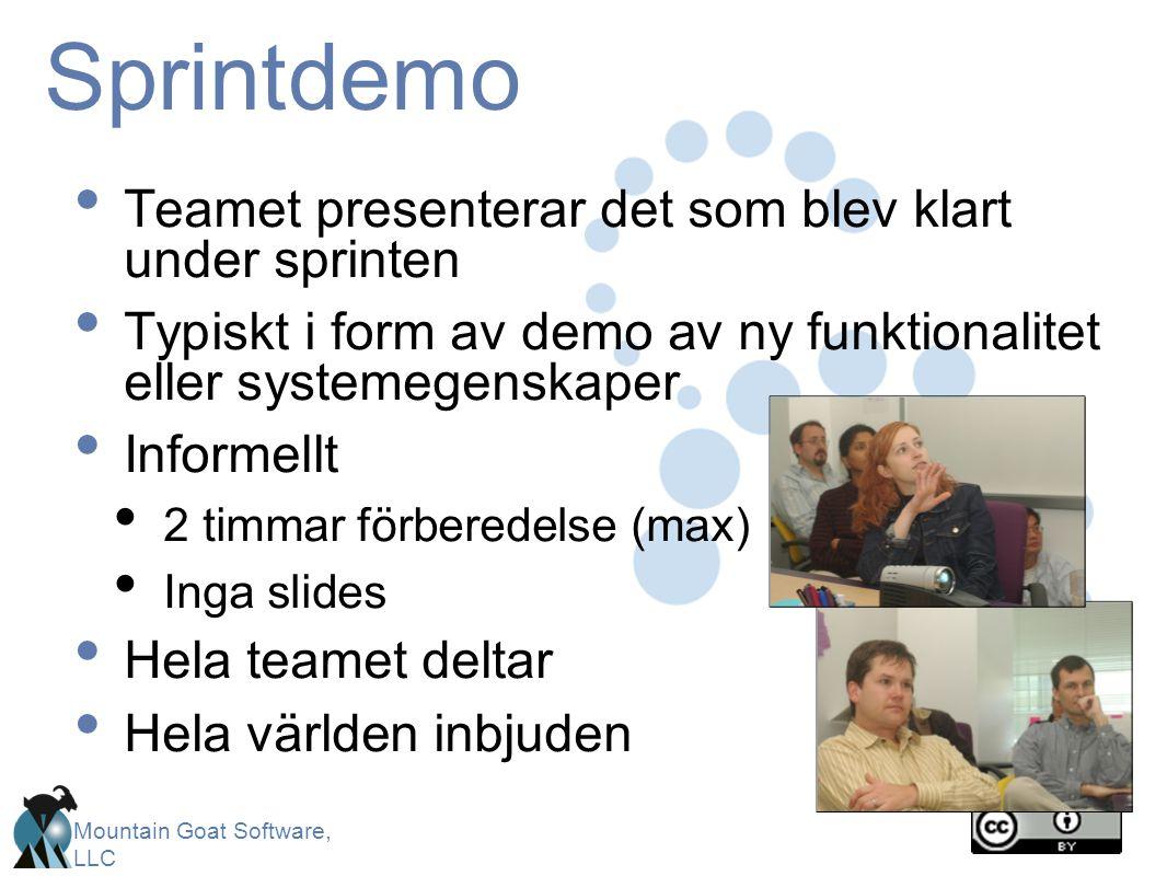 Sprintdemo Teamet presenterar det som blev klart under sprinten