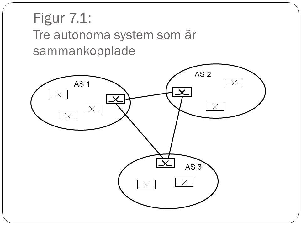 Figur 7.1: Tre autonoma system som är sammankopplade