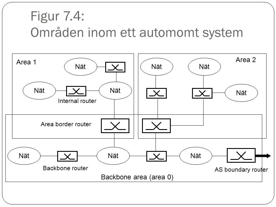 Figur 7.4: Områden inom ett automomt system