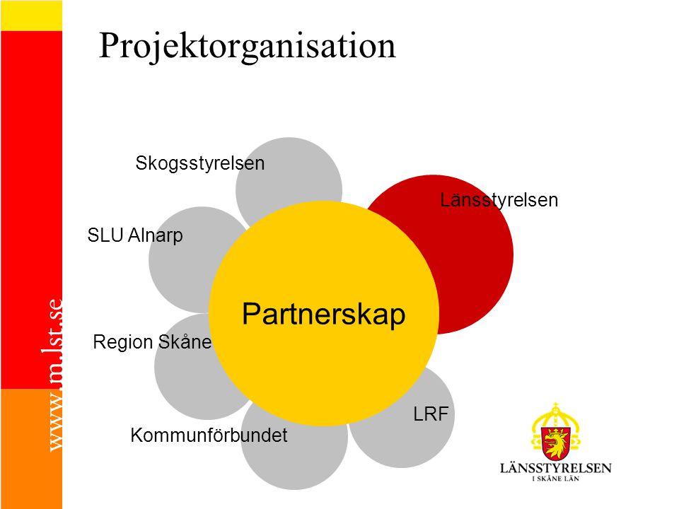 Projektorganisation Partnerskap Skogsstyrelsen Länsstyrelsen