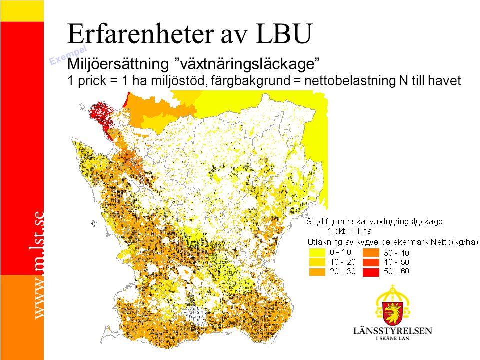 Erfarenheter av LBU Miljöersättning växtnäringsläckage