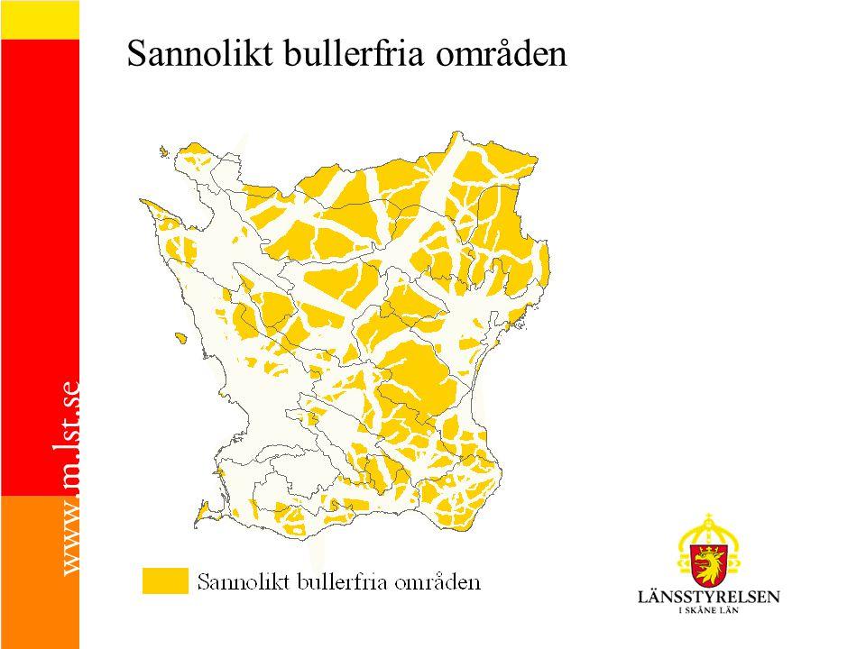 Sannolikt bullerfria områden