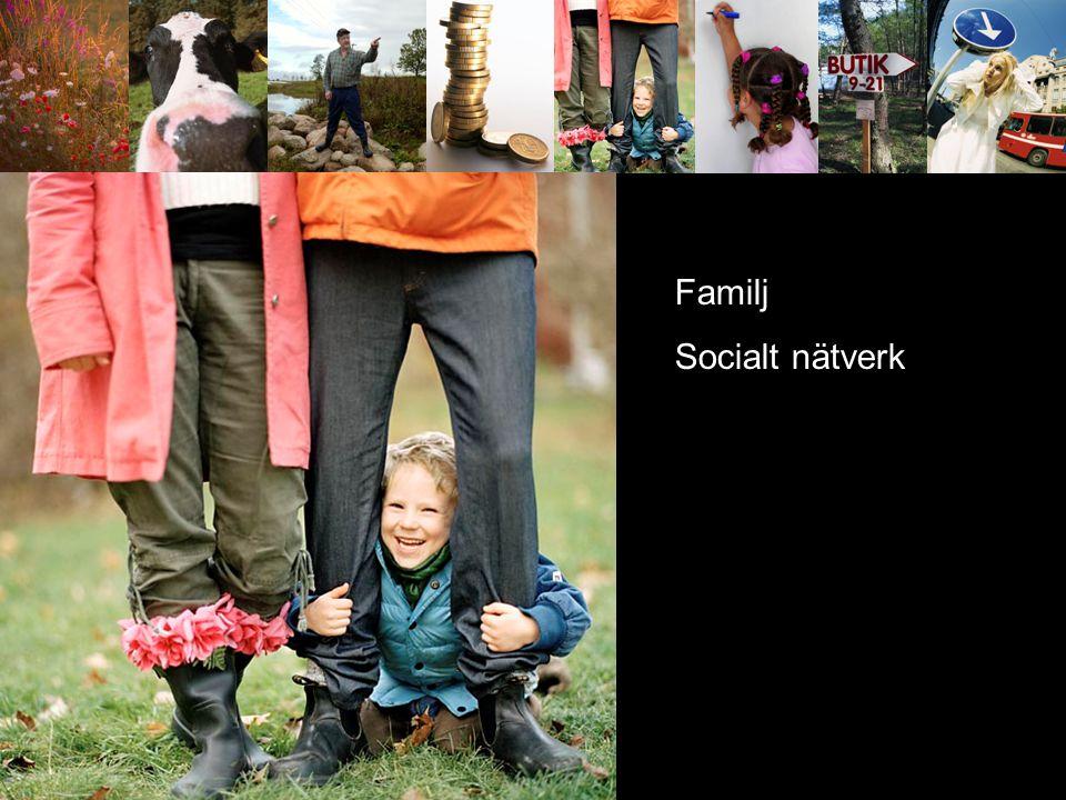 Familj Socialt nätverk Kom service offent service kommunikationer