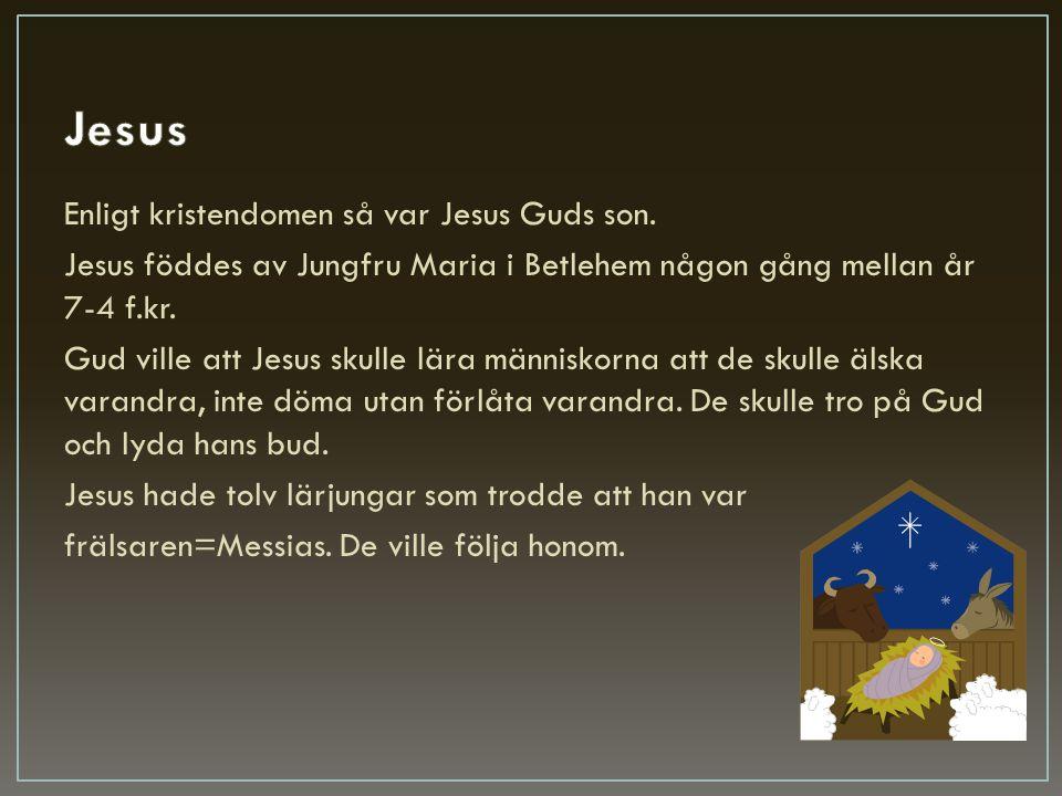 Jesus Enligt kristendomen så var Jesus Guds son.