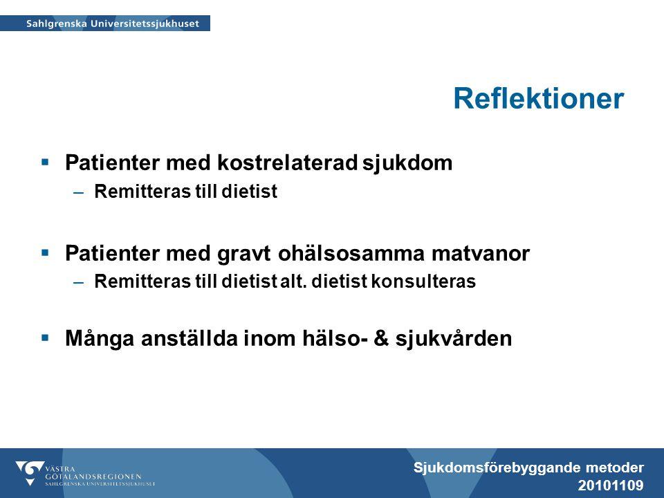 Reflektioner Patienter med kostrelaterad sjukdom