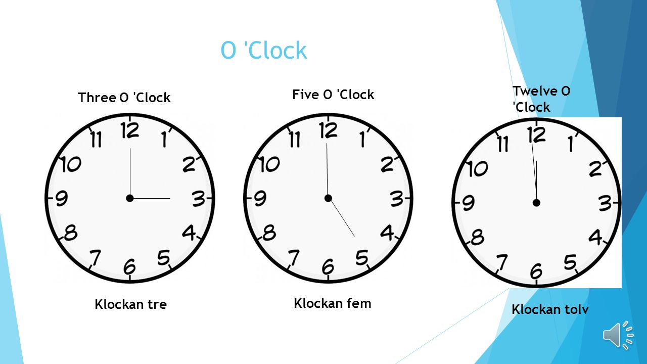 O Clock Twelve O Clock Five O Clock Three O Clock Klockan tre