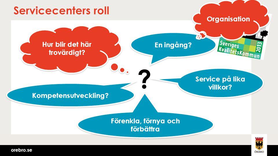 Servicecenters roll Organisation Hur blir det här trovärdigt