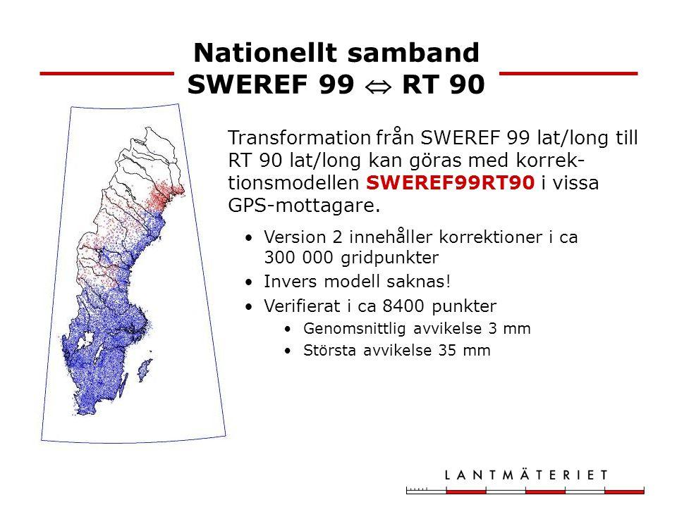 Nationellt samband SWEREF 99  RT 90