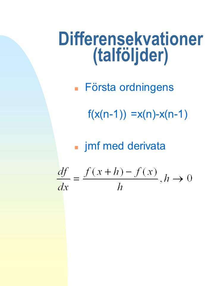 Differensekvationer (talföljder)