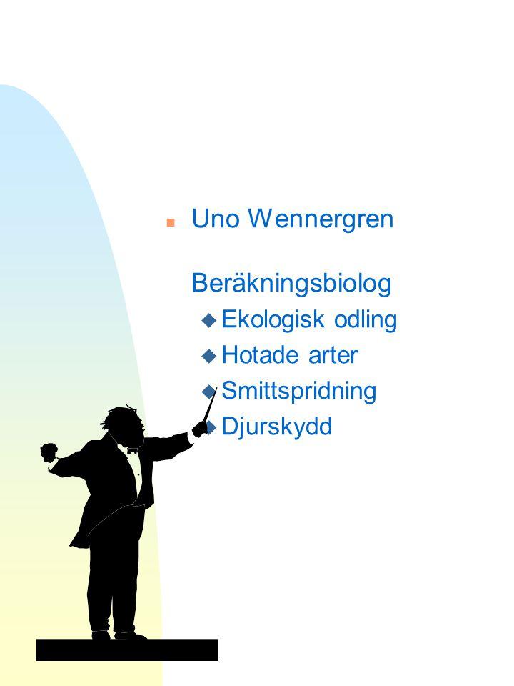 Uno Wennergren Beräkningsbiolog