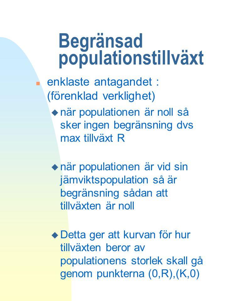 Begränsad populationstillväxt