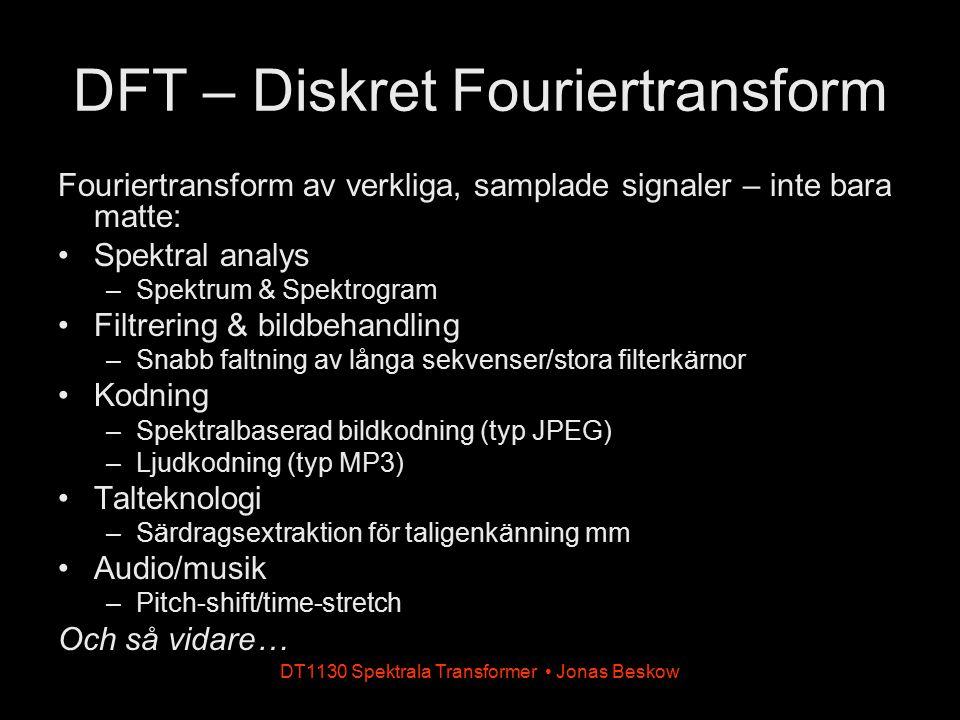 DFT – Diskret Fouriertransform