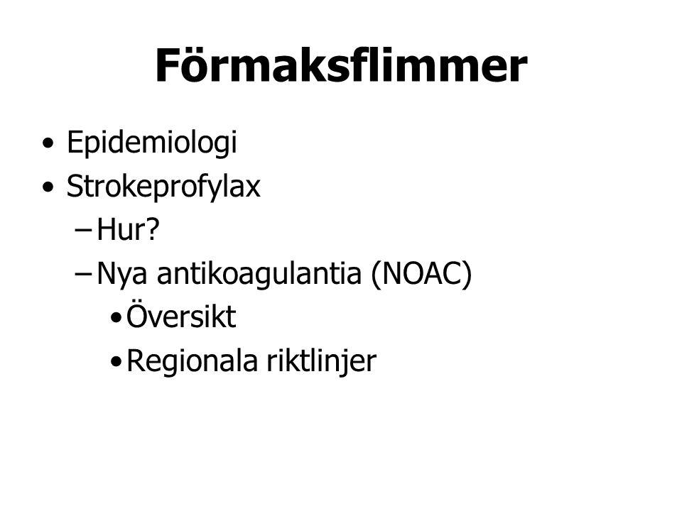 Förmaksflimmer Epidemiologi Strokeprofylax Hur
