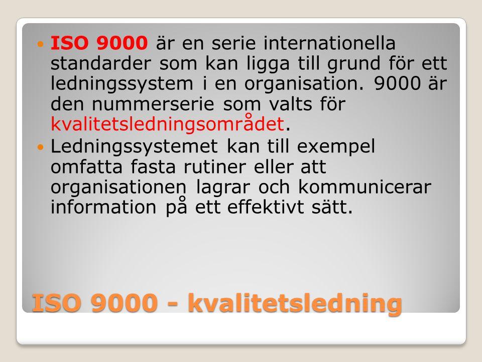 ISO 9000 - kvalitetsledning