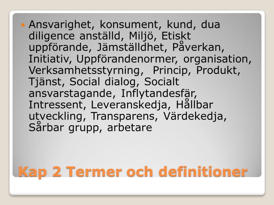 Kap 2 Termer och definitioner