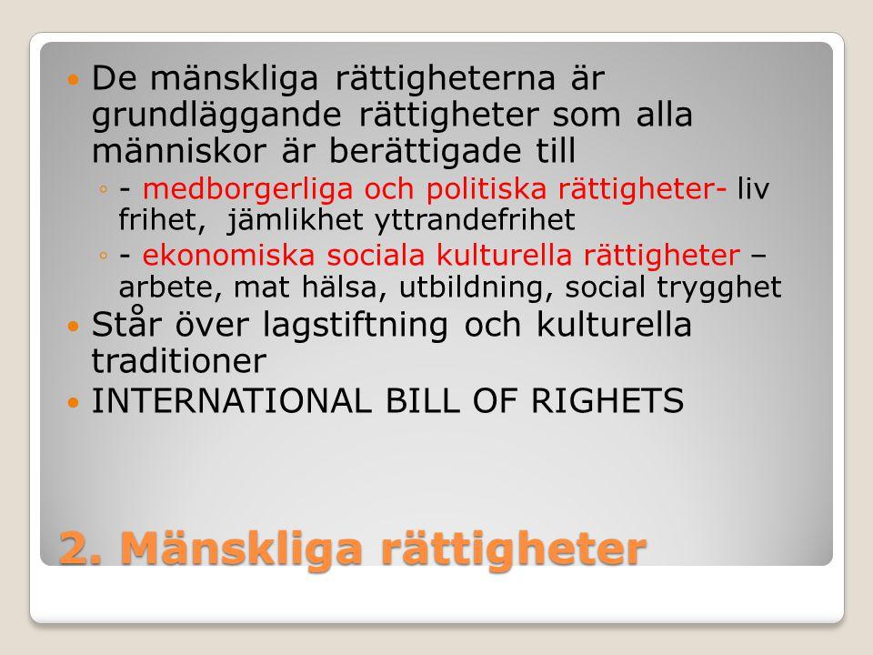 2. Mänskliga rättigheter