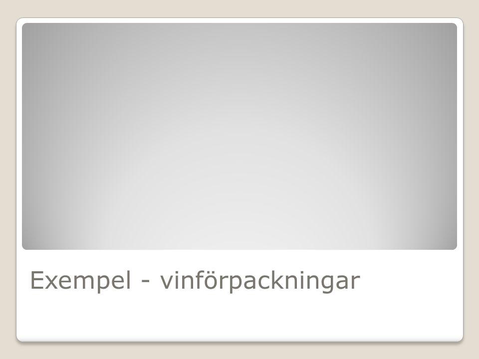 Exempel - vinförpackningar