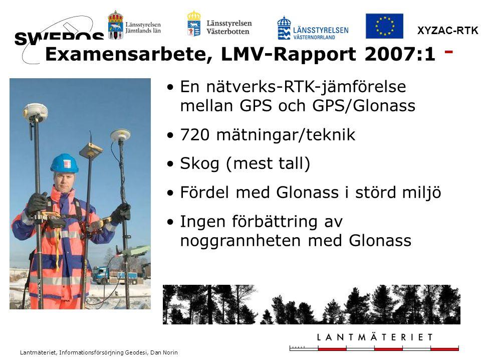Examensarbete, LMV-Rapport 2007:1