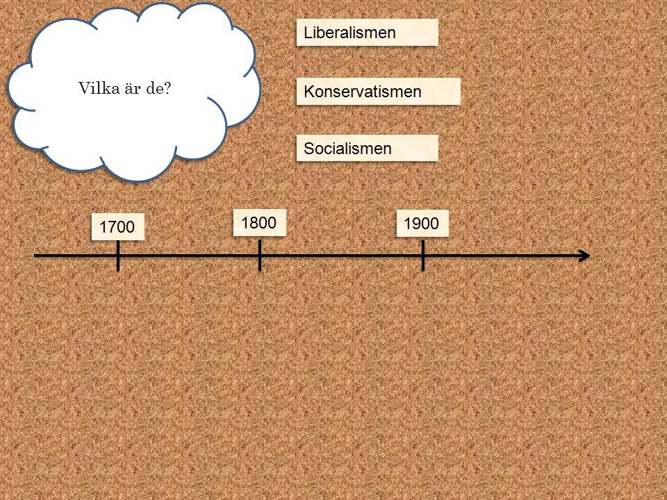 Vilka är de Liberalismen Konservatismen Socialismen 1700 1800 1900