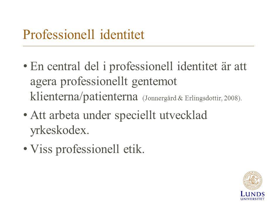 Professionell identitet