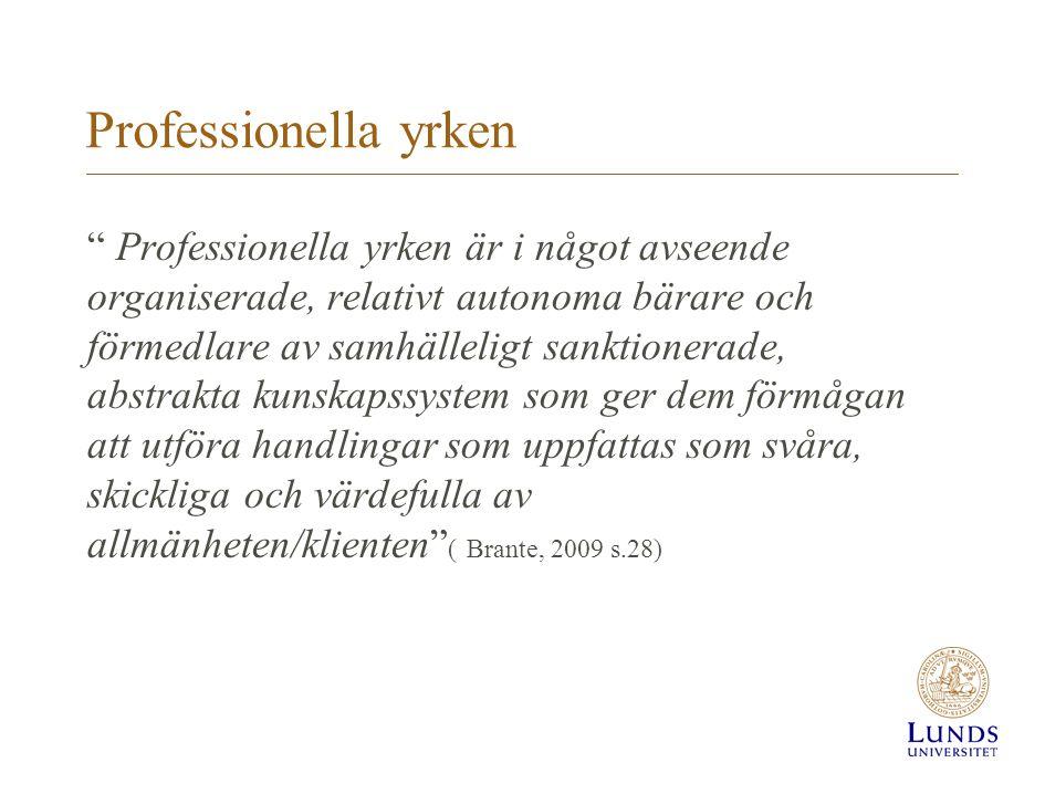 Professionella yrken