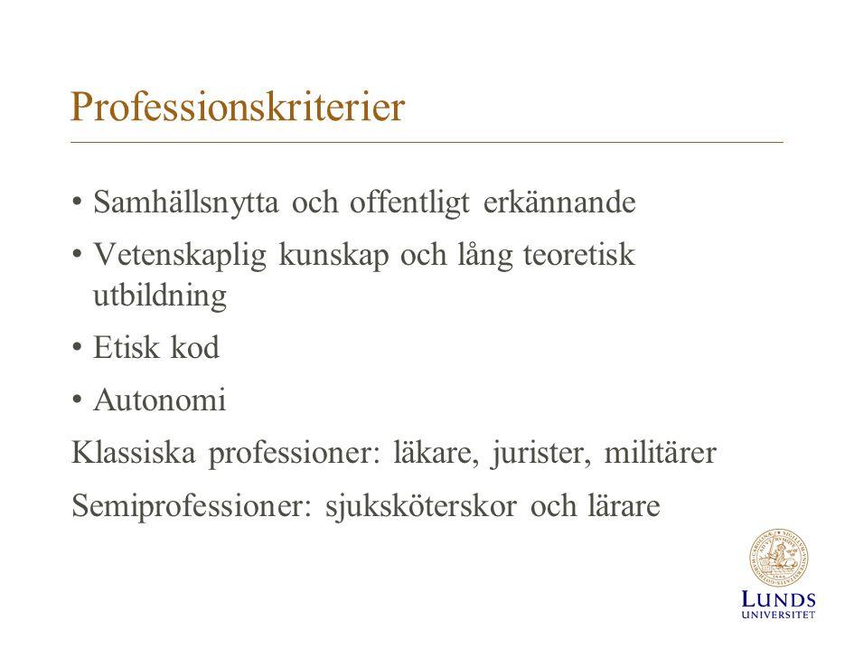 Professionskriterier