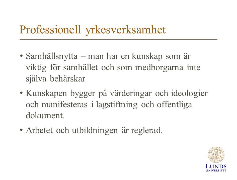 Professionell yrkesverksamhet