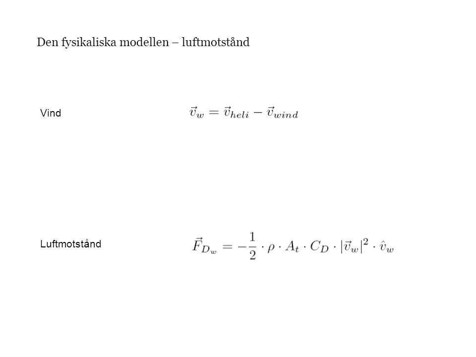 Den fysikaliska modellen – luftmotstånd