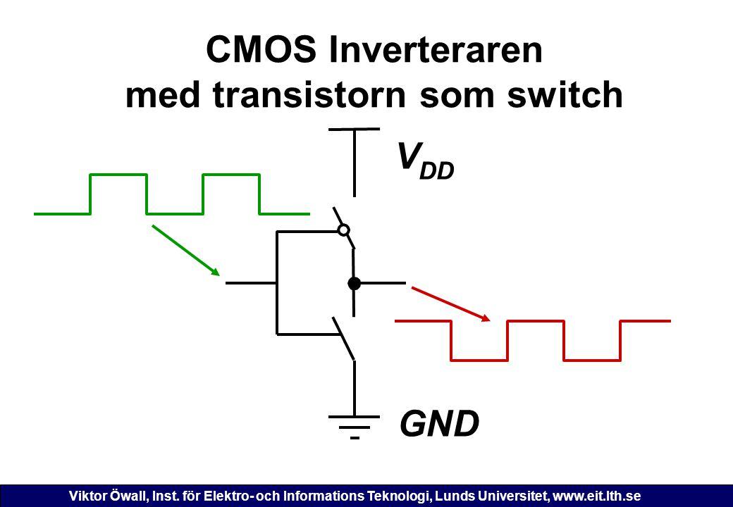 CMOS Inverteraren med transistorn som switch
