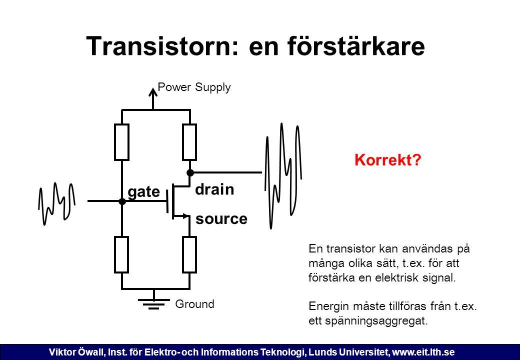 Transistorn: en förstärkare