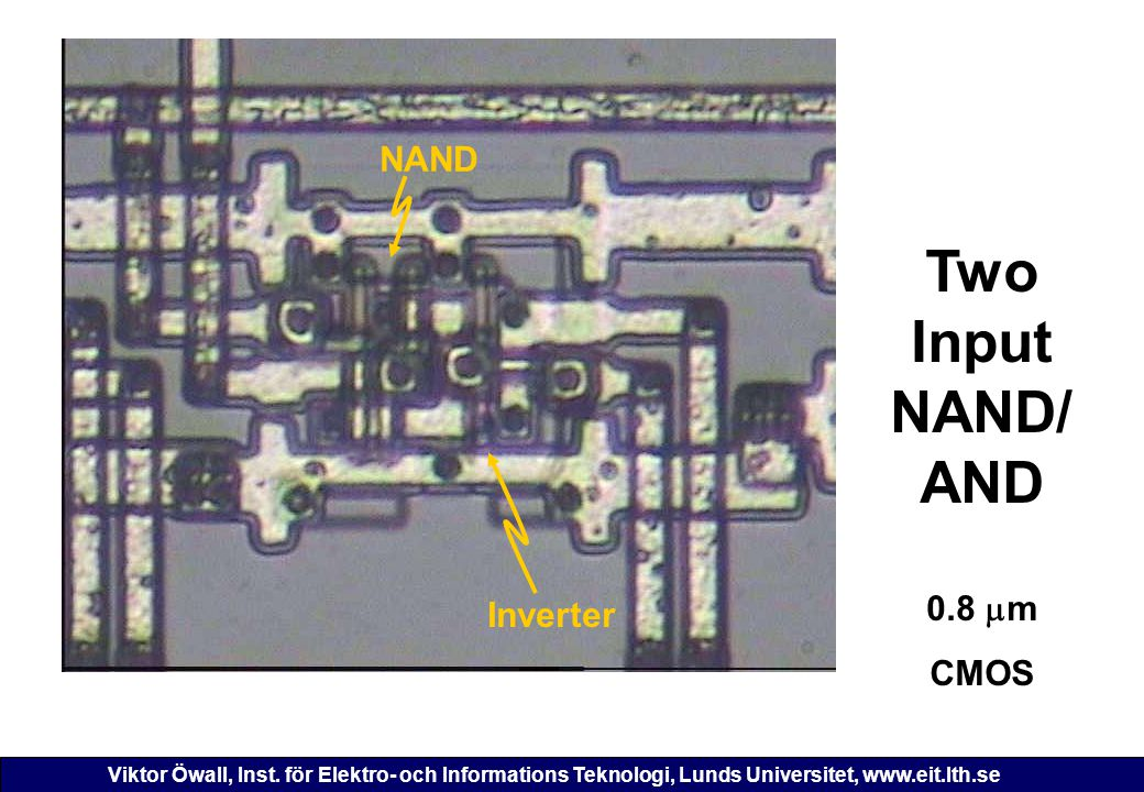 Two Input NAND/ AND 0.8 m CMOS