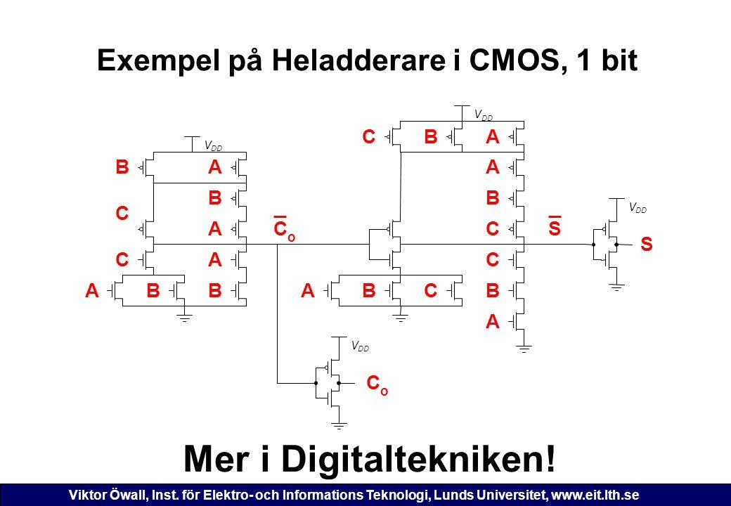 Exempel på Heladderare i CMOS, 1 bit