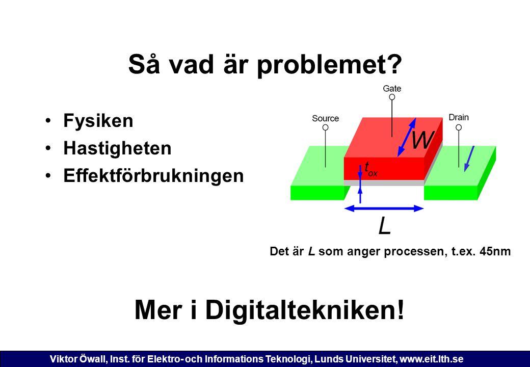 Så vad är problemet Mer i Digitaltekniken!