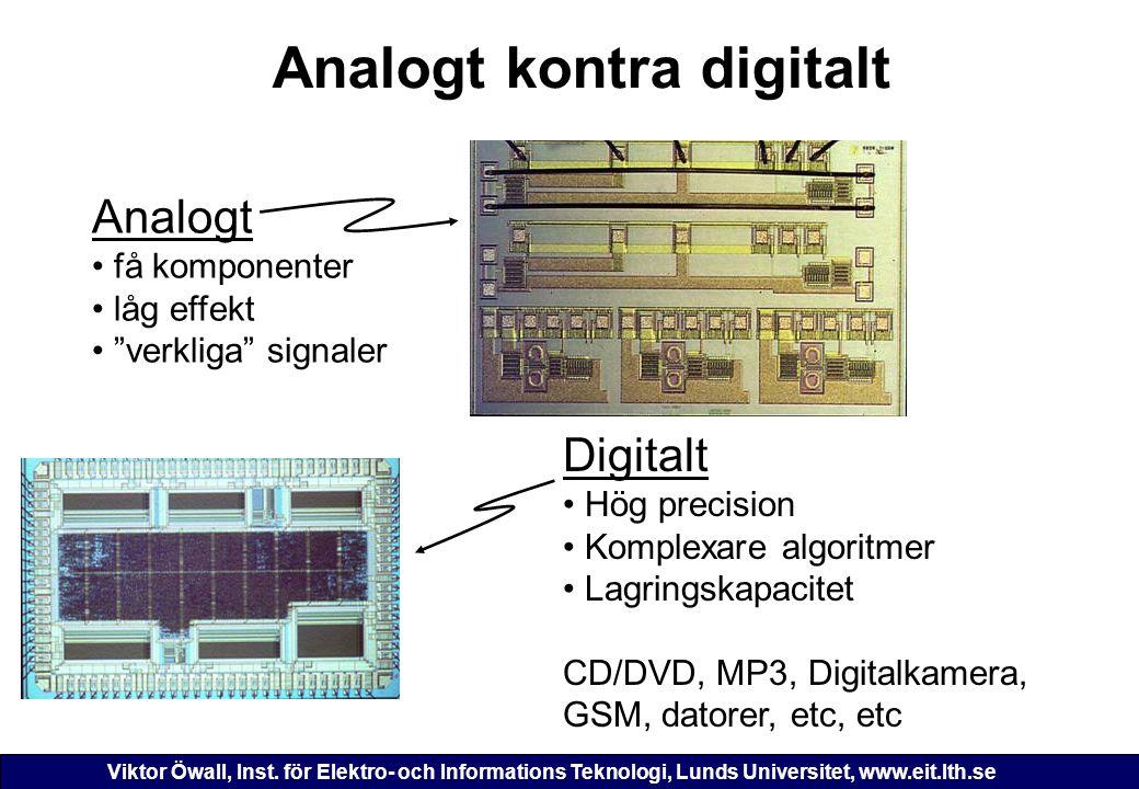 Analogt kontra digitalt