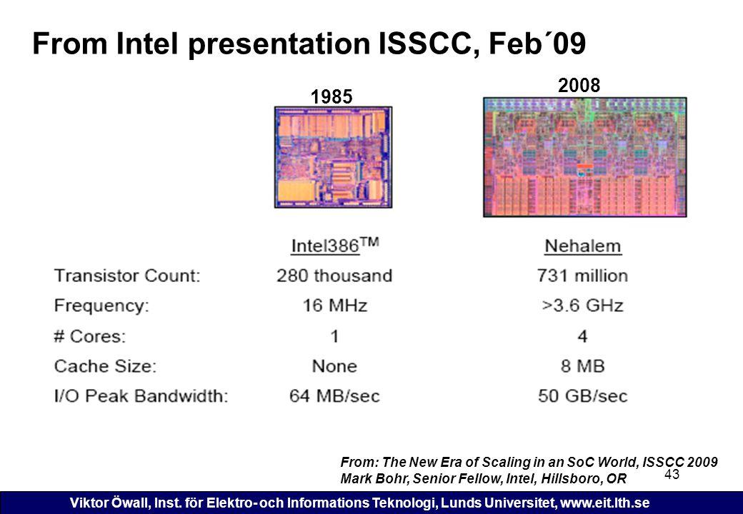 From Intel presentation ISSCC, Feb´09